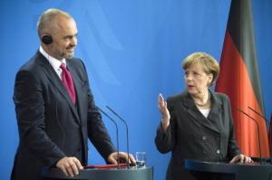 GERMANY-ALBANIA-MERKEL-RAMA