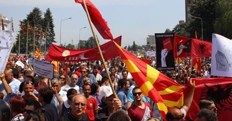 Protestat ne Maqedoni